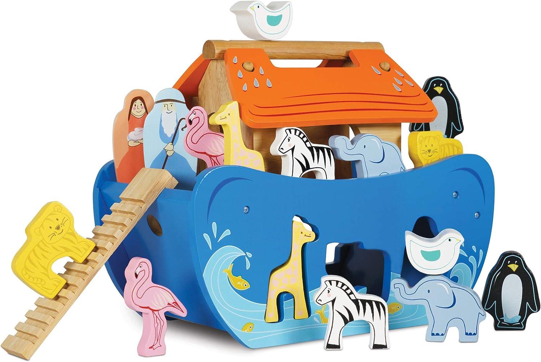 Zhejiang Longsheng Toys Co Wooden Noah/'s ark Noah and Animals