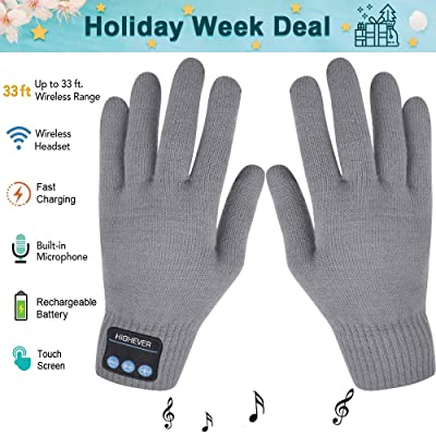 Bluetooth Gloves, Wireless Bluetooth Gloves, Wi...