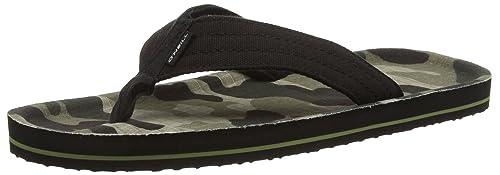 3316ba5ef O Neill Men s Chad Pattern Flip Flop Fashion Sandals Green Size  5