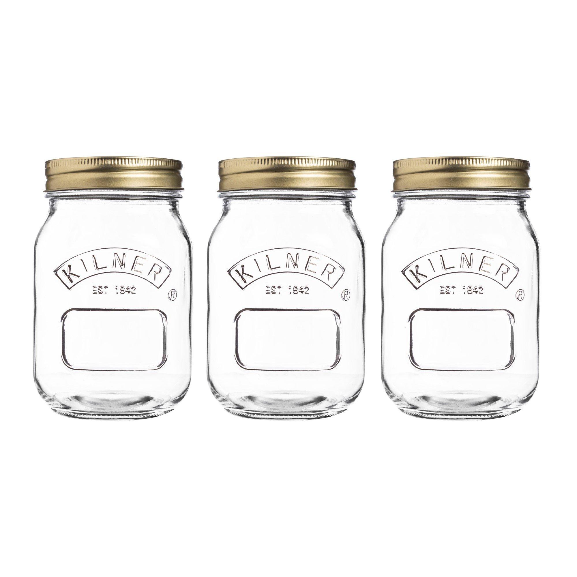 Country Canning Jars Kilner 17-Fl Oz, Set of 3