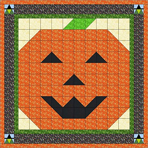 Easy Quilt Kit Halloween Jack O Lantern and Witches/Expedited -