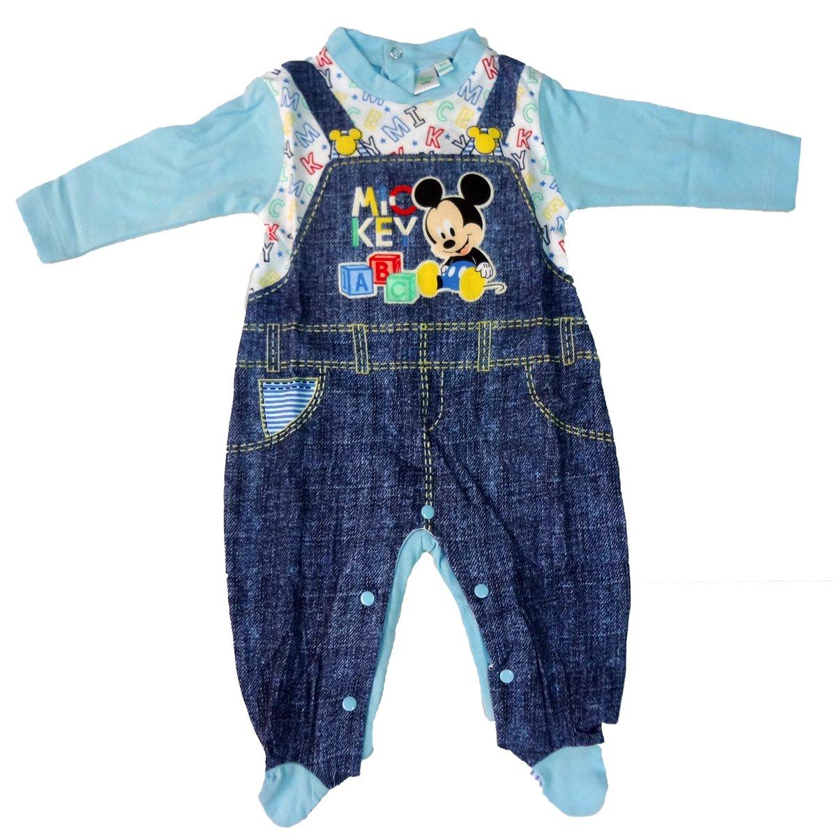 tutina neonato con piedino in cotone jersey MICKEY topolino disney art. WD101281