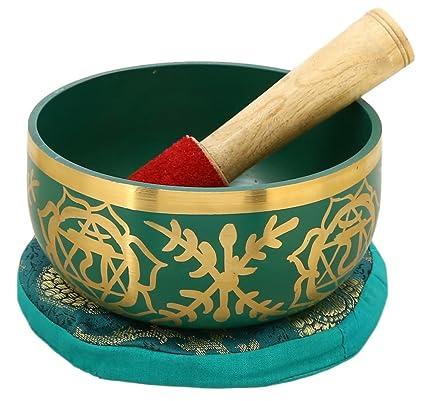 Amazon.com: Shalinindia Anahata Verde tazón Tibetano Budista ...