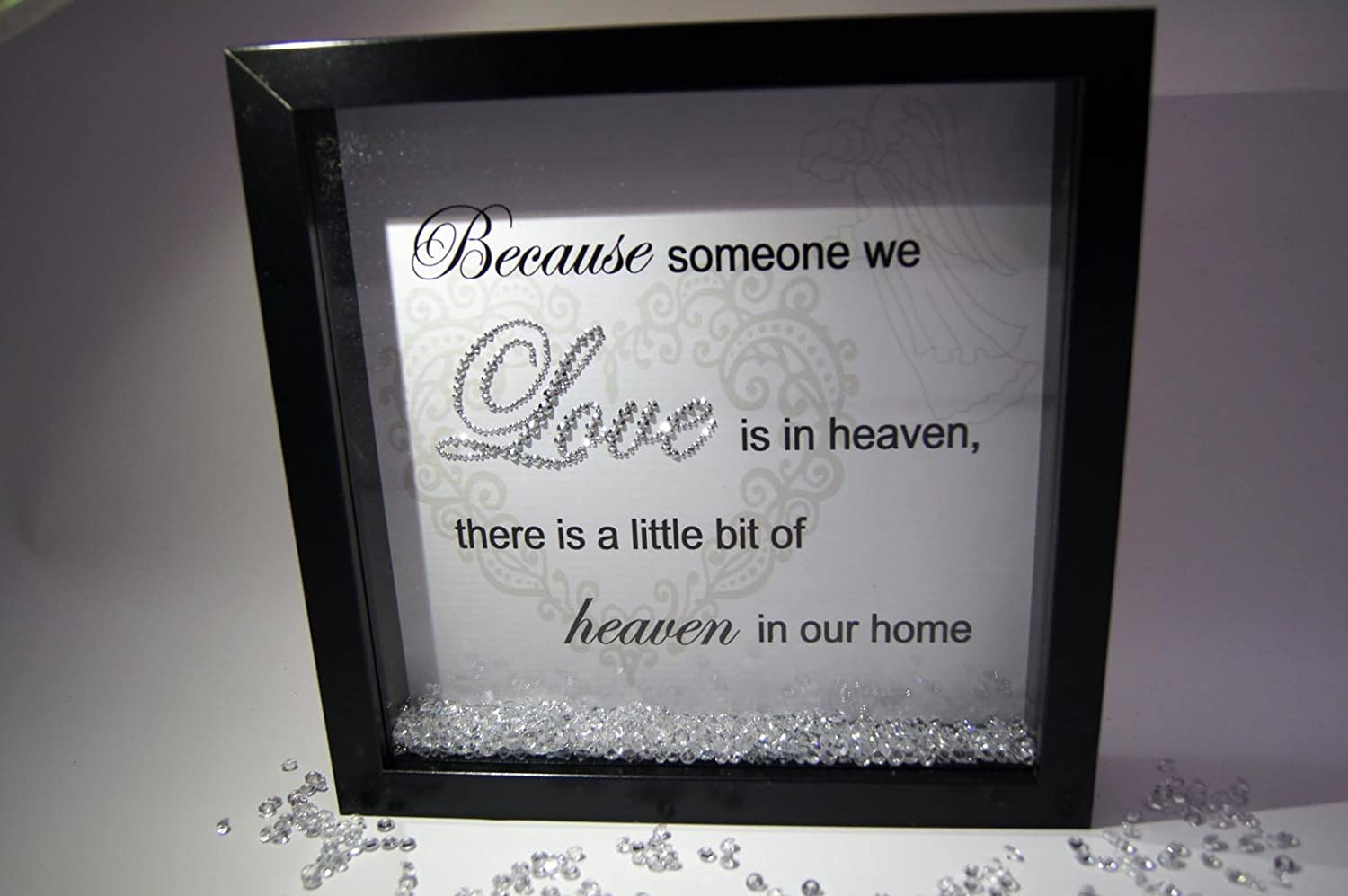 Because Someone We Love Heaven Crystal Frame Word Art Pictures