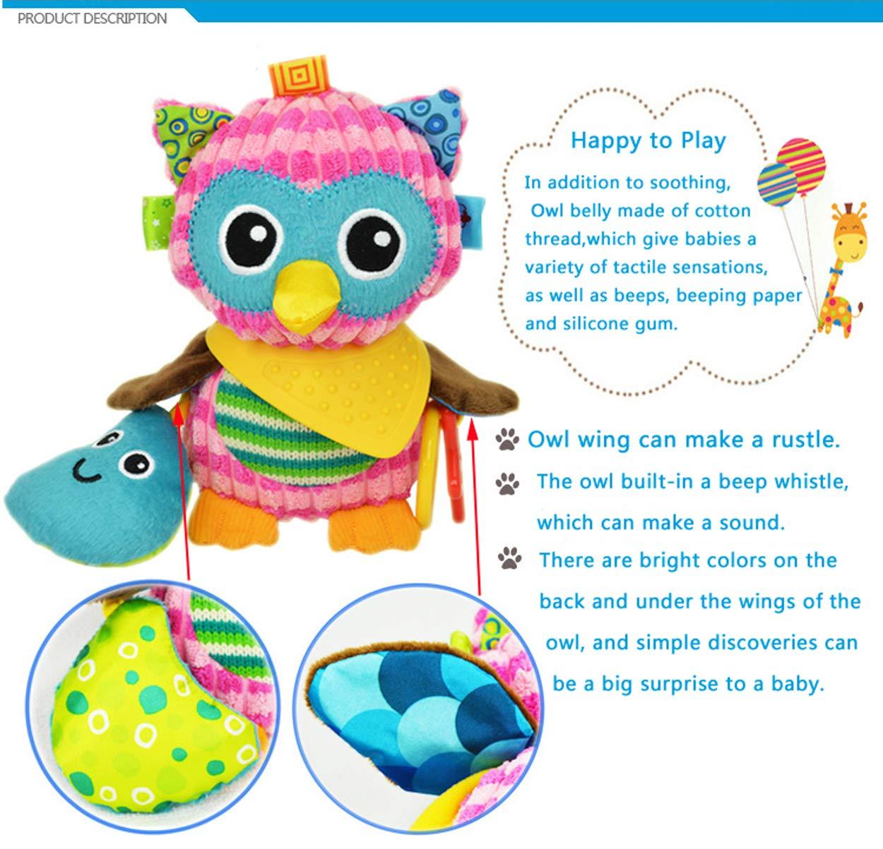 Oasmu Baby Toys Pram Toys Colorful Dog Infant Stroller Toys