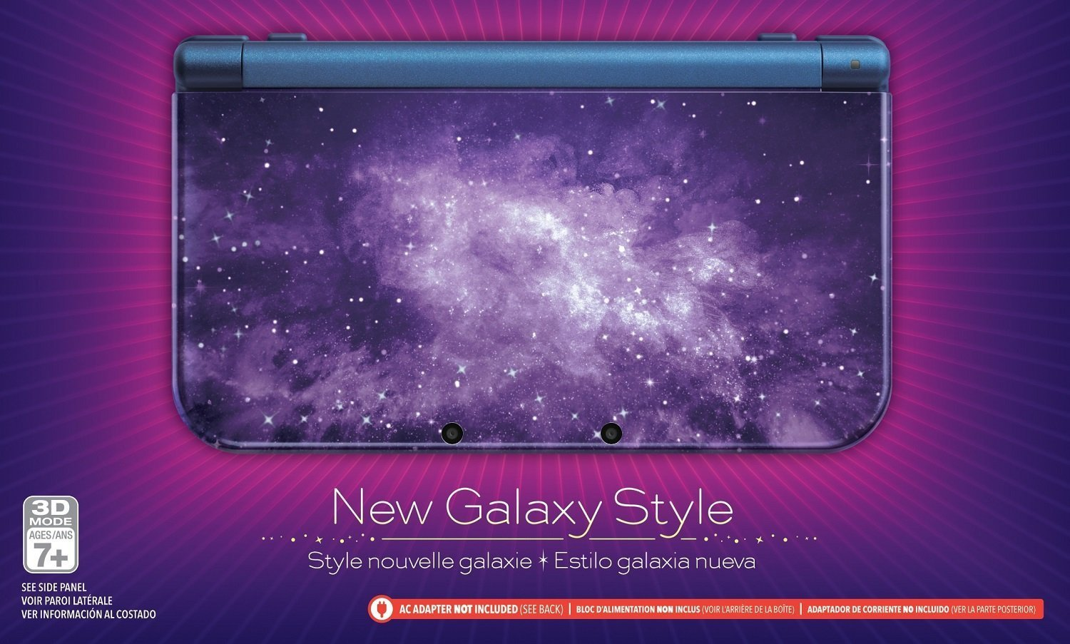 Nintendo New 3DS XL Console- Galaxy Style (Renewed): Video Games