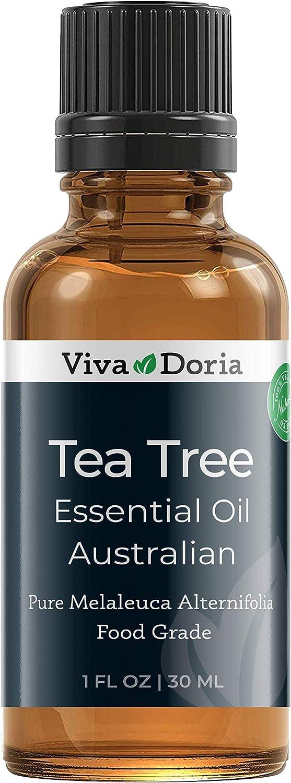 Viva Doria 100% Pure Tea Tree Essential Oil, Undiluted, Food Grade, High Quality Australian Tea Tree Oil, 30 mL (1 Fl Oz)