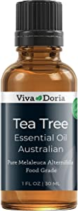 Viva Doria 100% Pure Tea Tree Essential Oil, Undiluted, Food Grade, High Quality Australian Tea Tree Oil, 30 mL (1 Fl Oz)