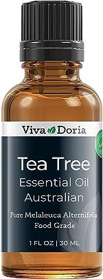 Viva Doria 100% Pure Tea Tree Essential Oil, Undiluted, Food Grade,