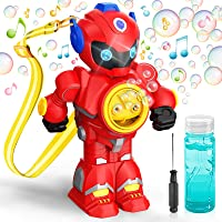 Hamdol Bubble Machine, Automatic Bubble Maker for Kids Toddlers, Auto Bubble Blower with Music and Lighting, 3000+ Bubbles/min, 100ml Solution, Non Leak Portable Bubble Toys for Outdoor Indoor Parties