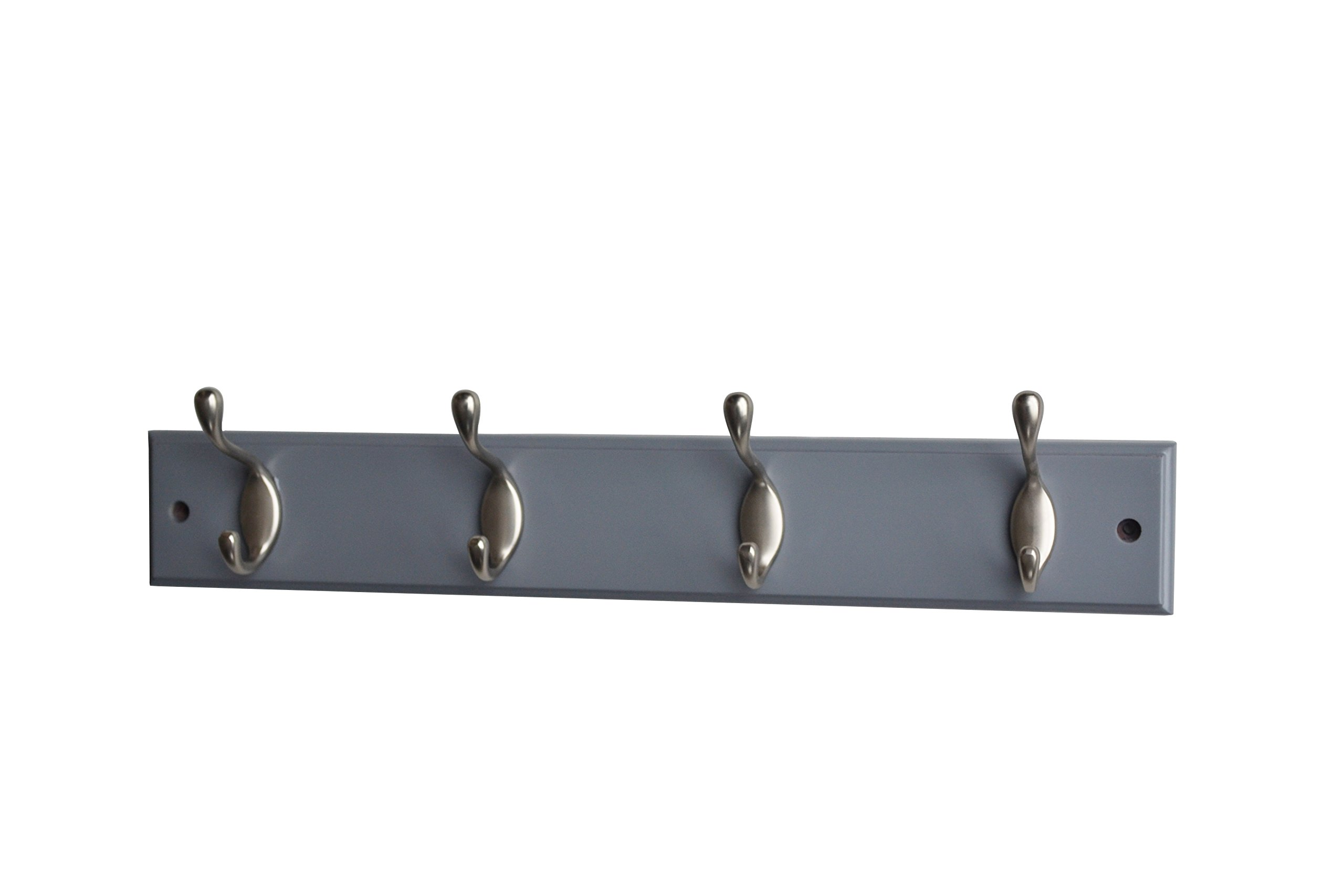 Mascot Hardware HR001-4/SN-GRY Hook Rail, Grey