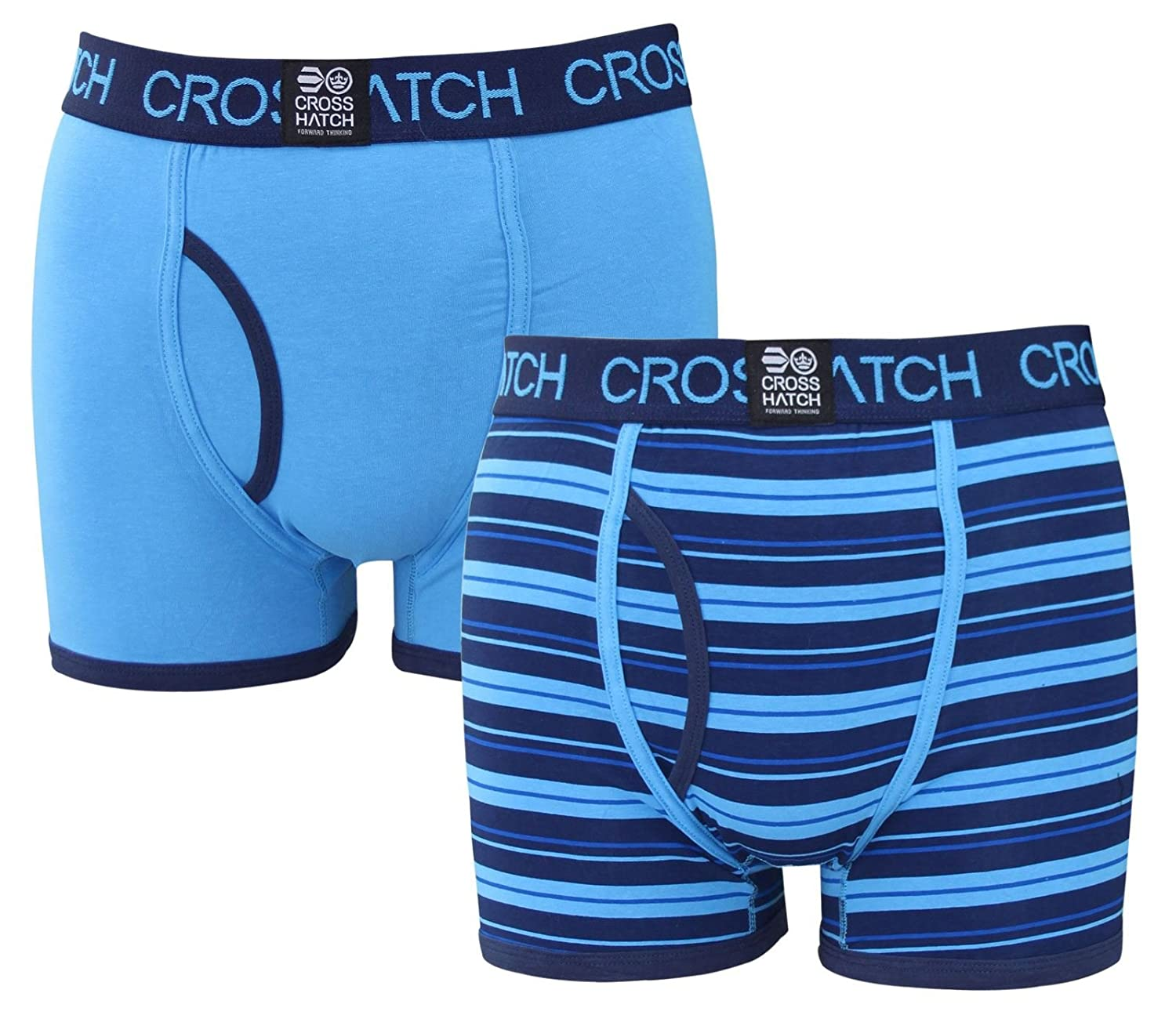 Crosshatch 'Qubeoid' Checkered Twin Pack Boxers