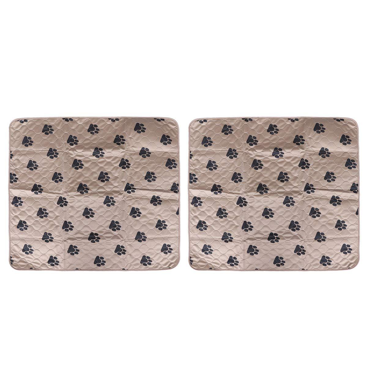 80x90 CM Marr/ón Empapadores para Mascotas Reutilizables y Absorci/ón R/ápida POPETPOP 2 Unidades Alfombras de Adiestramiento Lavable para Perros