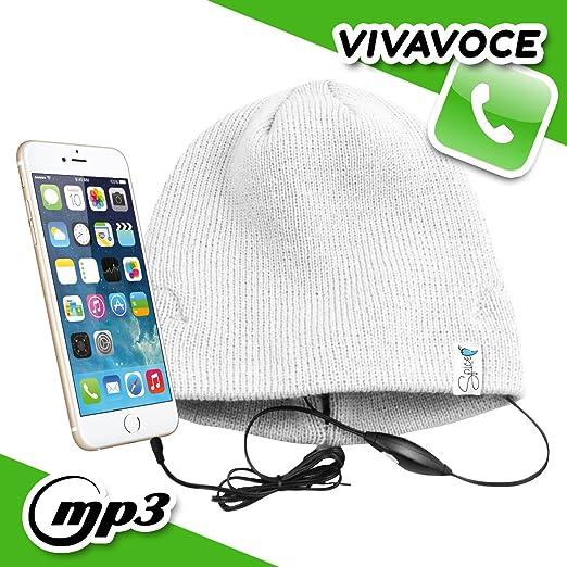 Spice – Sombrero/gorro con auriculares integrados manos libres ...