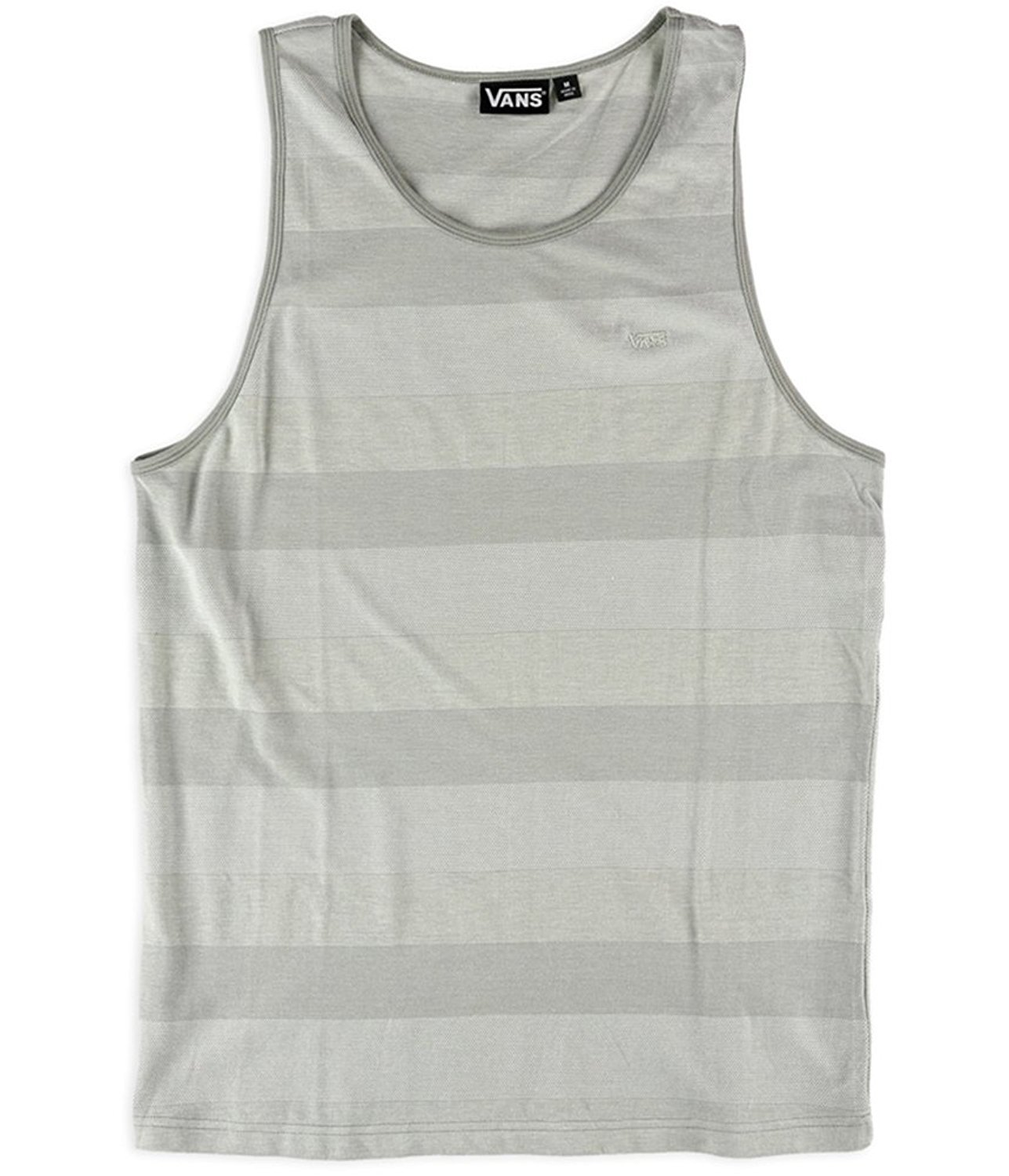 fba8189207 Vans Mens Striker Tank Top Stripe Icegrey Small at Amazon Men s Clothing  store