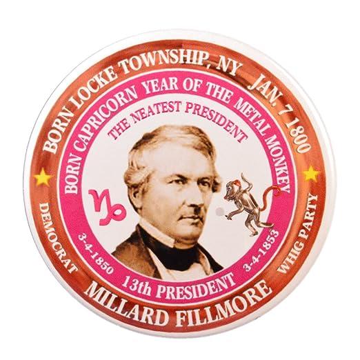 Amazon com: Millard Fillmore 13th President Pin, Astrology