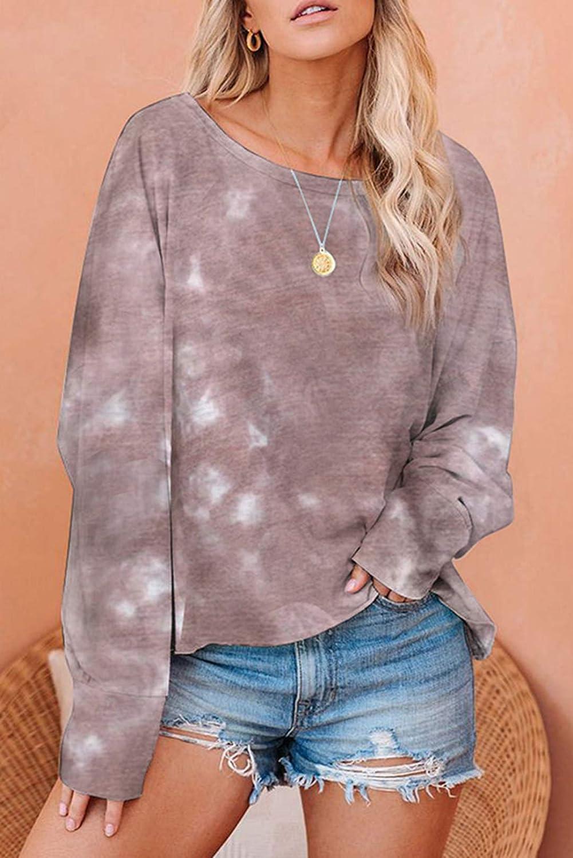 Cyenaly Womens Tops Long Sleeve Pullover Sweatshirts Pajamas S-2XL