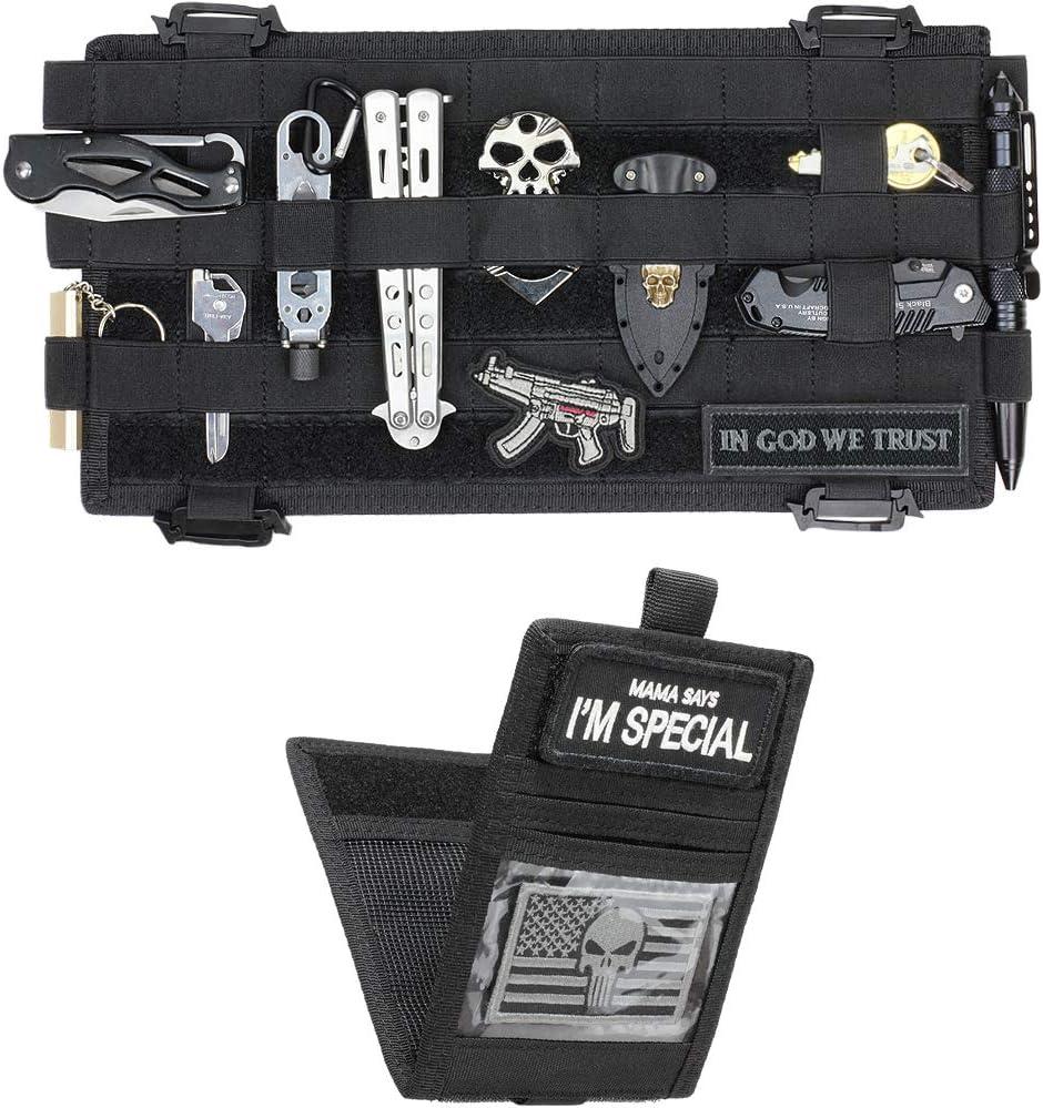 Large Tactical Vehicle Panel Organizer Pouch MOLLE Car Sun Visor Holder Bag Case