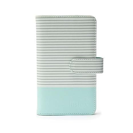 Fujifilm Instax Mini - Álbum Rayas para 108 Fotos, Color Azul Hielo
