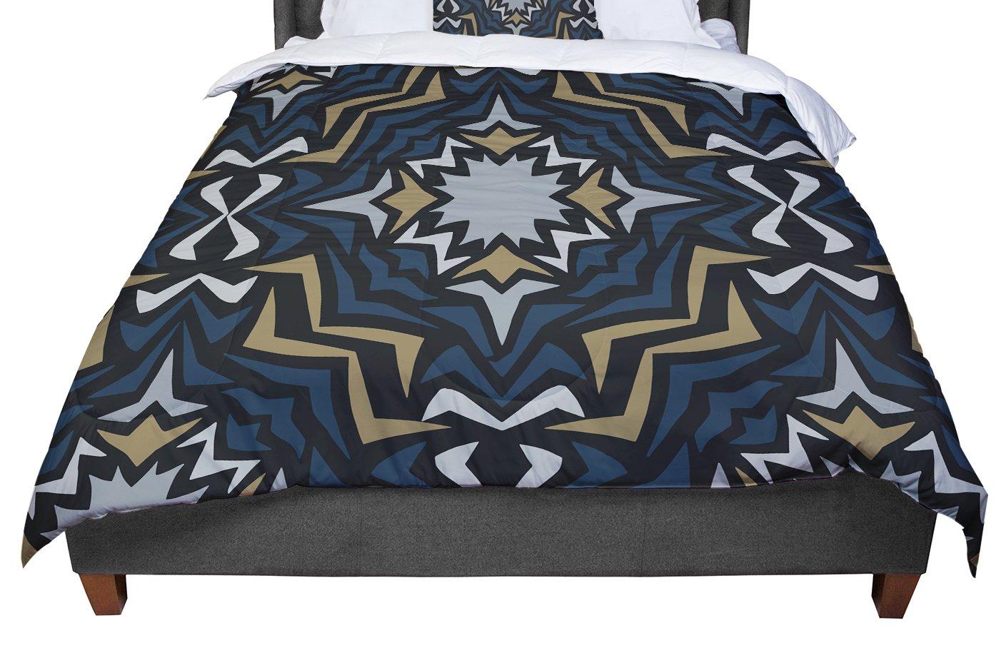KESS InHouse Miranda Mol Winter Fractals Queen Comforter 88 X 88