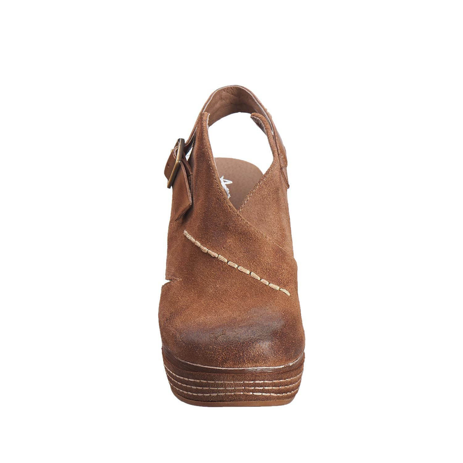 Antelope Women's 836 Taupe Suede Cutout Sling Wedge 38 by Antelope (Image #4)