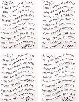 SUPVOX 4 Sets Hojas de Sellos Transparentes Sellos de Sellos Transparentes para la Tarjeta de álbum de Recortes de Bricolaje decoración del planificador Diario (t1481): Amazon.es: Juguetes y juegos