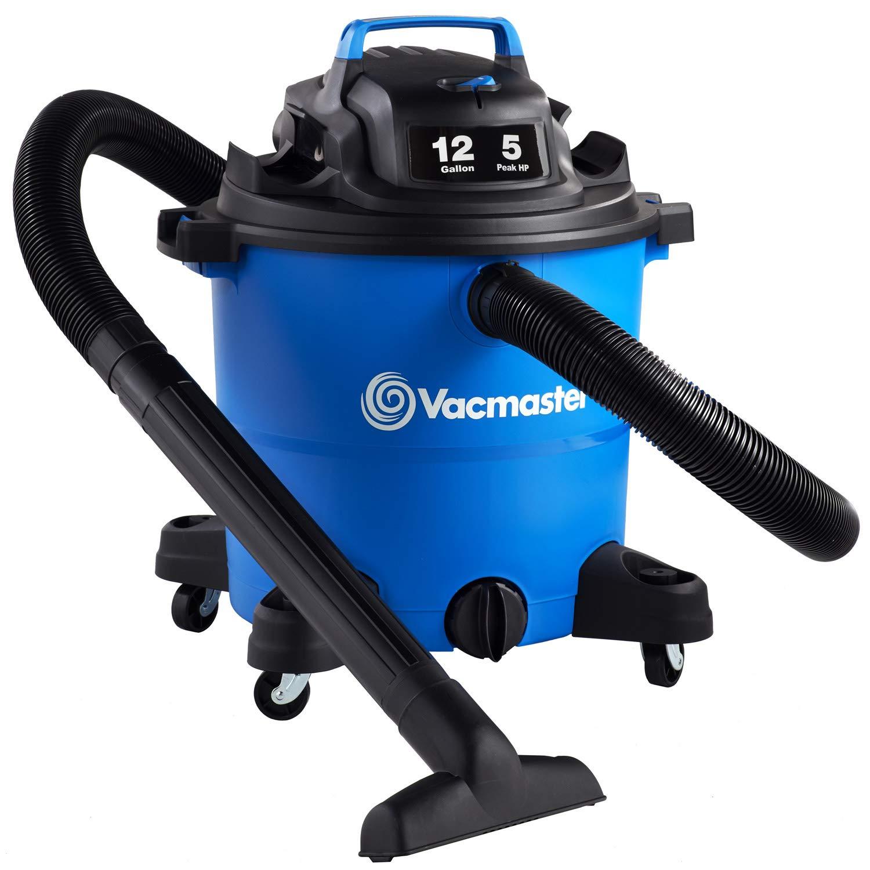 Vacmaster Vacmaster-12 Gal. Wet/Dry Vacuum 5 HP 2-1/2'' Hose (VOC1210PF), Blue