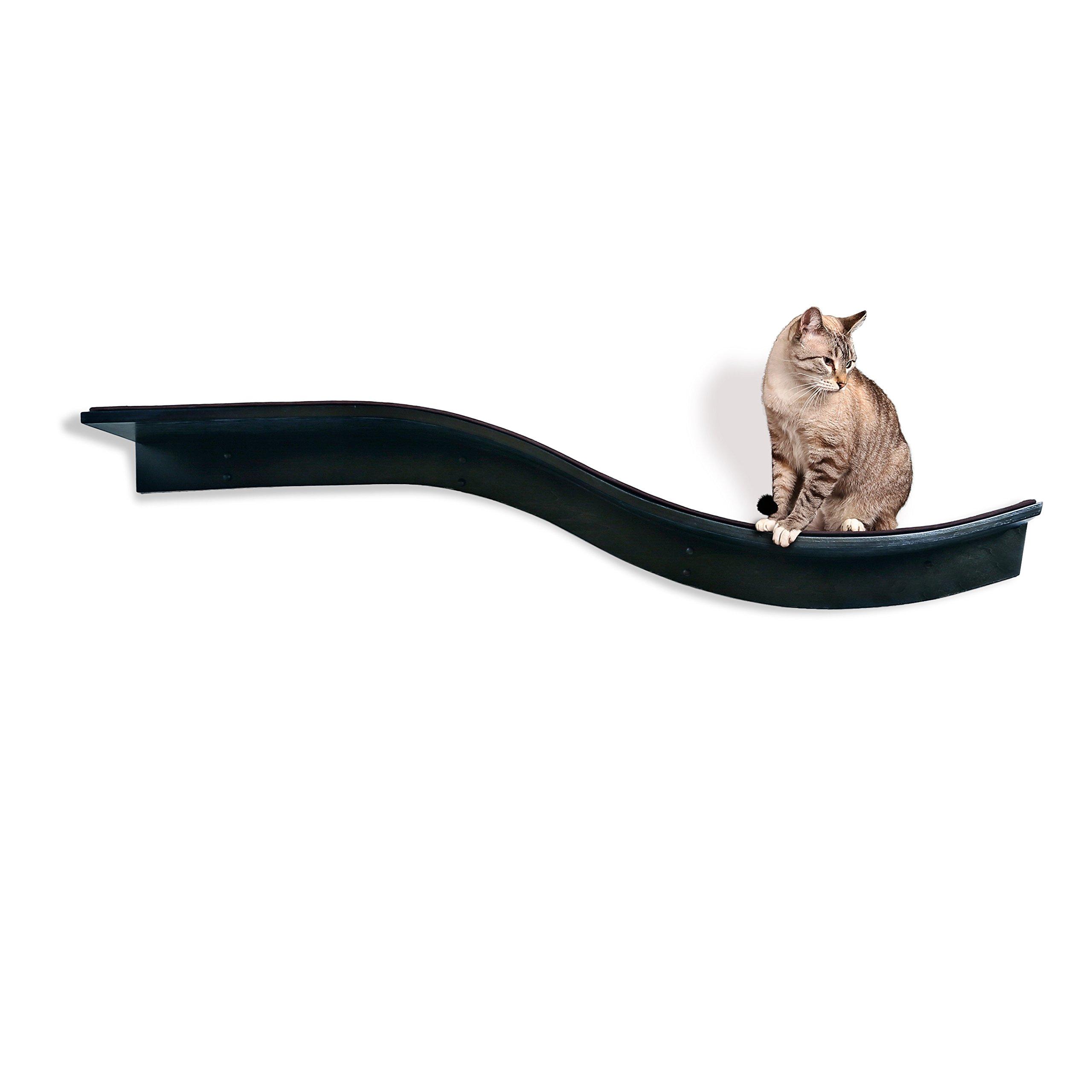 The Refined Feline Lotus Branch Cat Shelf, Espresso