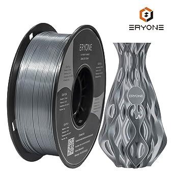 Filamento PLA Plata Ultra Seda 1.75mm, ERYONE Impresión 3D PLA ...