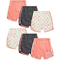 Coney Island Girls' Active Shorts - 6 Pack French Terry Athletic Dolphin Sweat Shorts (Little Kid/Big Kid)