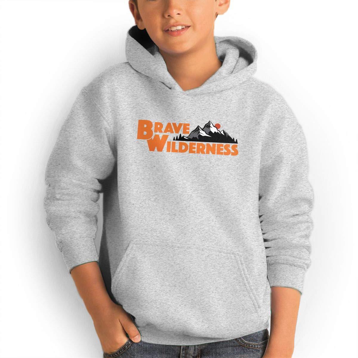 PRESENT Brave Blunt Wilderness Kid's Fashion Hoodies Custom Pulloversr Gray