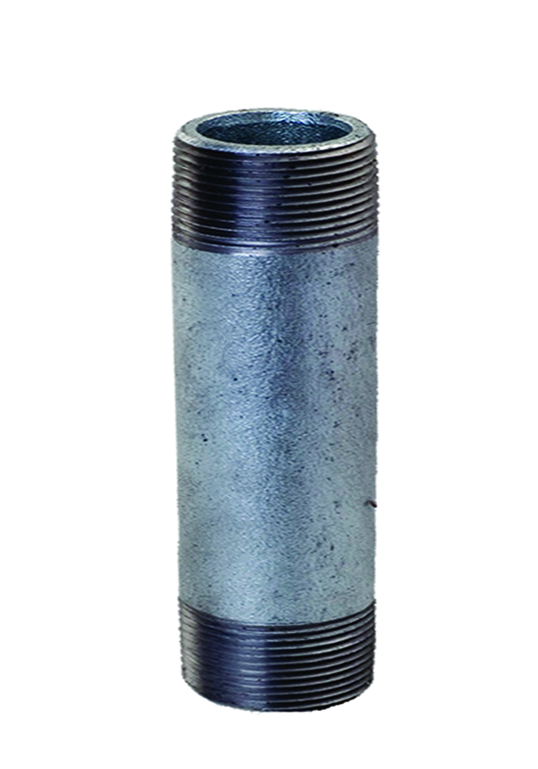 Everflow Supplies NPGL3012 12'' Long Galvanized Steel Nipple Pipe Fitting with 3'' Nominal Size Diameter