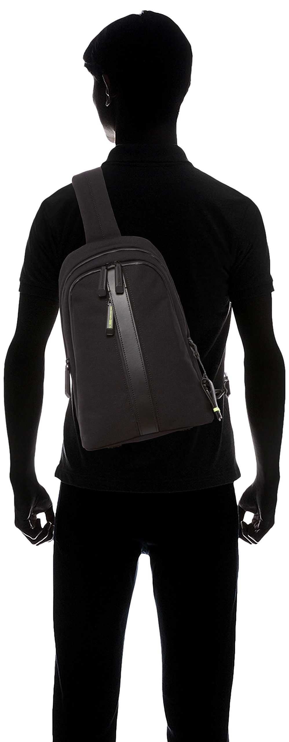 Bric's Men's Moleskine Bag Sling Backpack, Black, One Size by Bric's (Image #9)