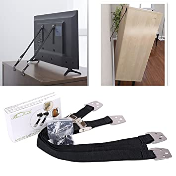 Anti-Tip Adjustable Furniture Table Fix Strap with Screw Home Kids Security Keep