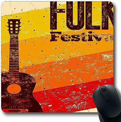 Alfombra Oblong Concierto Música Festival Folk Retro Tipográfico ...