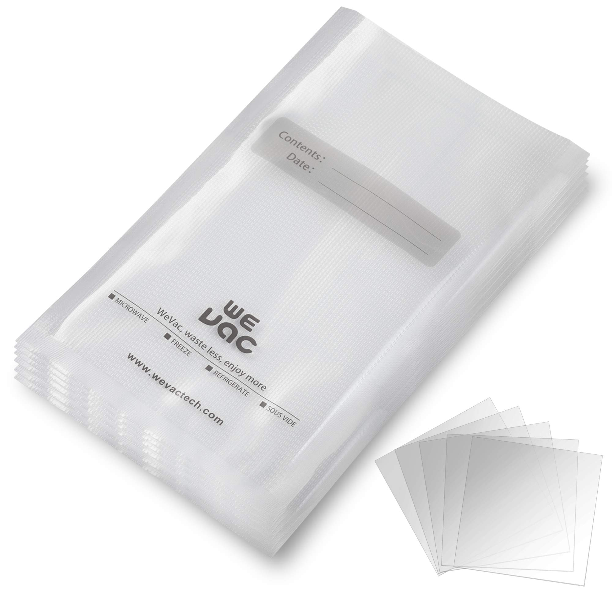 Vacuum Sealer Bags 100 Gallon 11x16 Inch for Food Saver, Seal a Meal, Gamesaver, Weston. Commercial Grade, BPA Free, Heavy Duty, Puncture Prevention, Great for vac storage, Meal Prep or Sous Videion, Great for Meal Prep or Sous Vide by Wevac