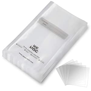Vacuum Sealer Bags 100 Gallon 11x16 Inch for Food Saver, Seal a Meal, Gamesaver, Weston. Commercial Grade, BPA Free, Heavy Duty, Puncture Prevention, Great for vac storage, Meal Prep or Sous Videion, Great for Meal Prep or Sous Vide