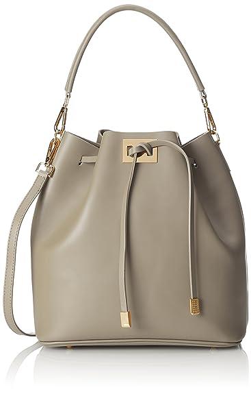 Damen Unterarmtasche, Grau (Fango), 19 cm Chicca Borse