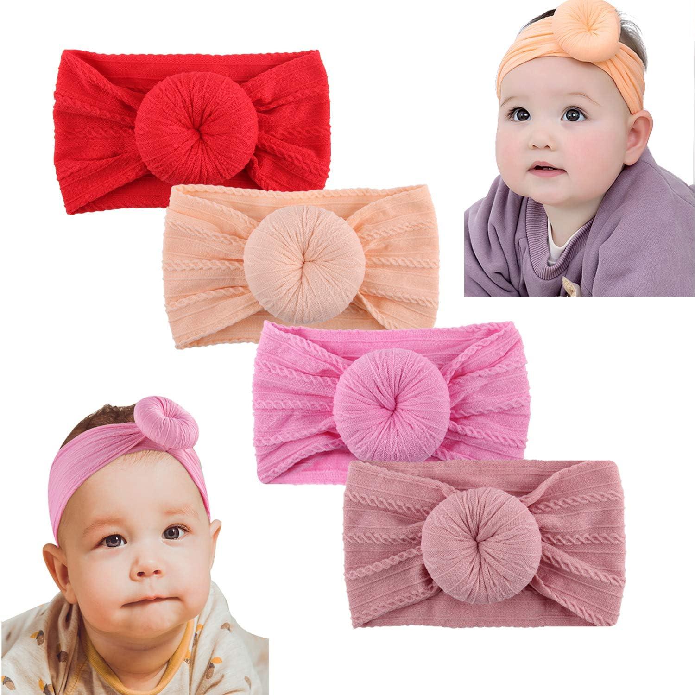 Donuts Nylon Baby Headband Kids Girl Hair Accessories For Infant Headwrap Turban