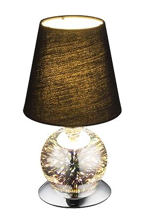 Noche - Lámpara de mesa con pantalla de tela textil de ...