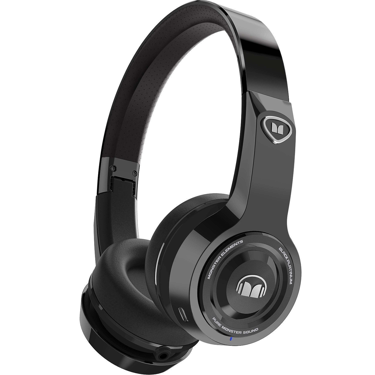 Monster Elements Wireless On-The-Ear Bluetooth DJ Headphones, Black Platinum (137056-00)