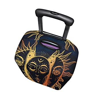 LAVOVO Celestial Sun And Moon Luggage Cover Suitcase Protector Carry On Covers