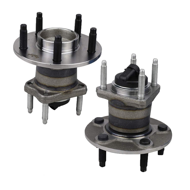 2005-2010 w/ABS 512285 5 Lug Pair 2 Rear Wheel Hub & Bearing ...