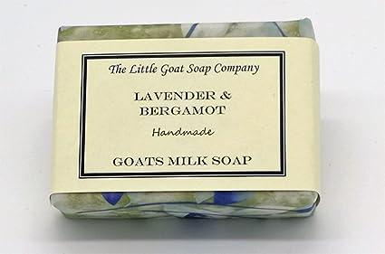 1 jabón de leche para cabra de 100 g, lavanda y bergamota Eczema, Psoriasis