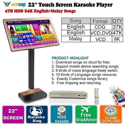 Amazon com: 4TB HDD,94K English CDG,VCD,DVD +Bahasa Malay