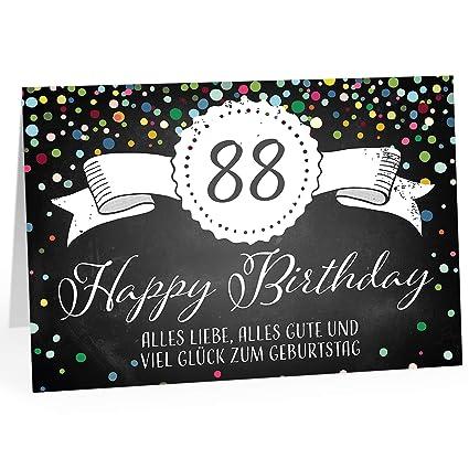 Grandes XXL Diseño Tarjeta de felicitación para 88 ...