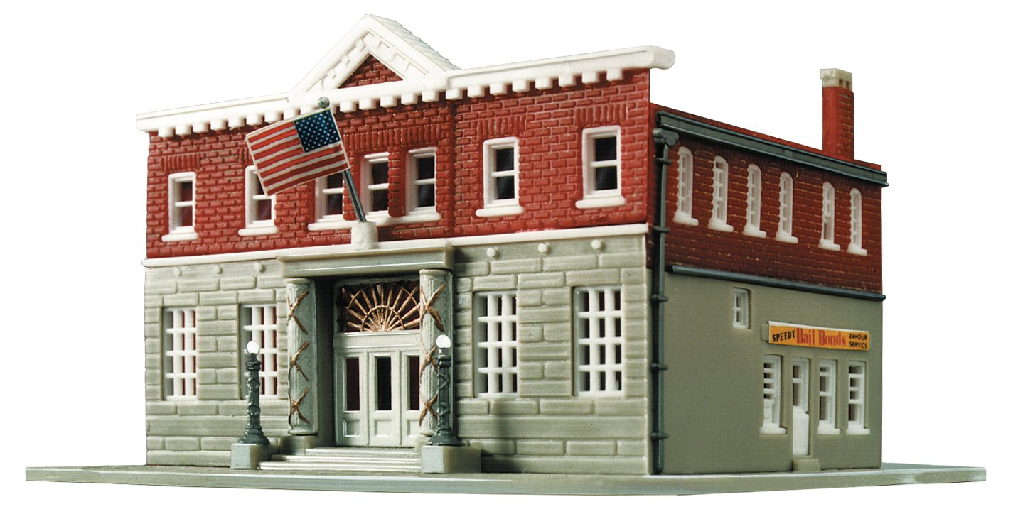 Woodlawn Police Station Life-Like Trains  HO Scale Building Kits
