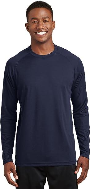 Sport-Tek ST700LS Men/'s Long Sleeve Ultimate Performance Crew Tee-Shirt NEW