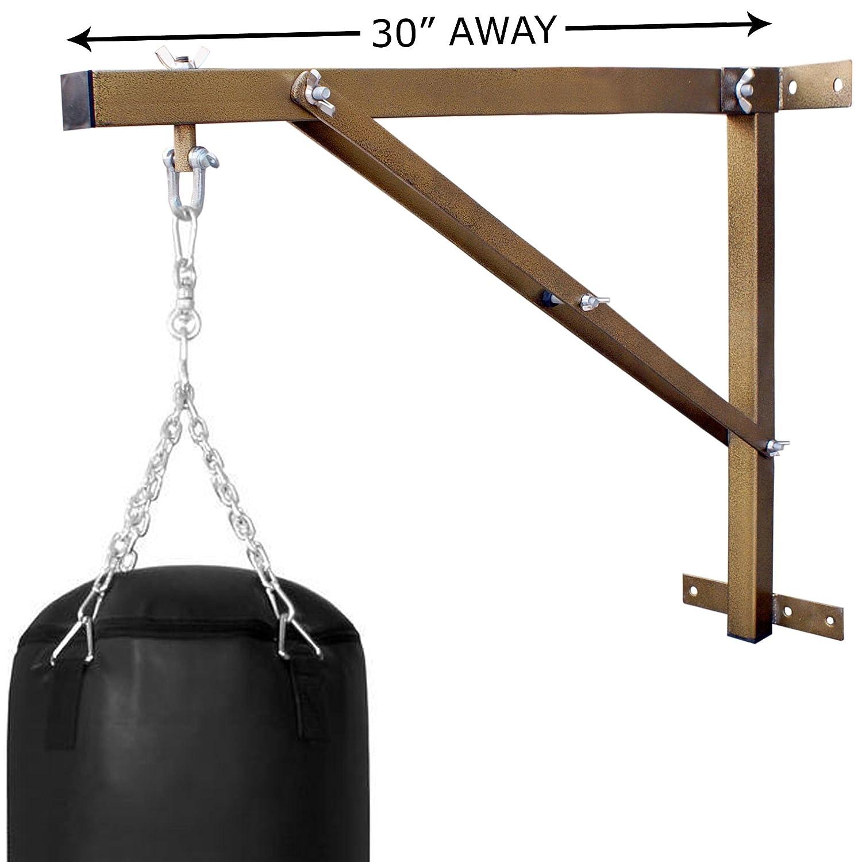 Farabi Supporto da parete per sacco da boxe, telaio ultra resistente (dorato, 0,8m) Farabi Sports FPBS