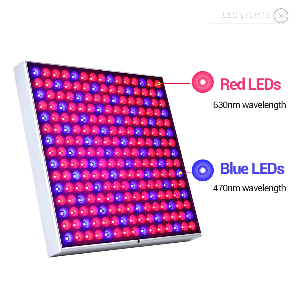 ANNT 45W LED Plant Grow Light Panel Growth Lamp Red Blue Spectrum Hanging Lighting for Hydroponic Aquatic Indoor Plant Growth and Flowering by ANNT (Image #1)
